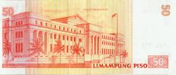 Philippine 50 peso bill back