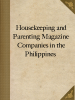 Housekeeping and Parenting Magazine Companies in the Philippines