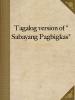 """Tagalog version of """"Sabayang Pagbigkas"""""""