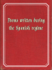Poems written during the Spanish regime